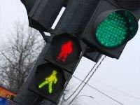 В Лесосибирске опасный участок дороги оборудован светофором