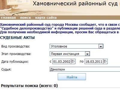 сайт судебных актов