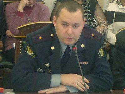 Начальник Копейской колонии  Денис Механов.