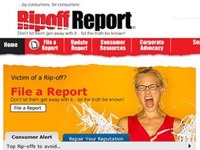 Главная страница сайта Ripoff Report
