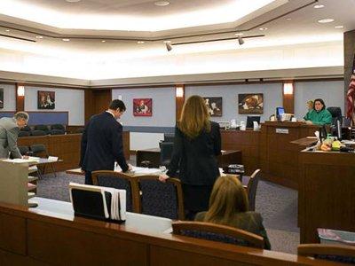 Судья из Лас-Вегаса вызвала общественное возмущение, украсив зал заседаний фотографиями собак