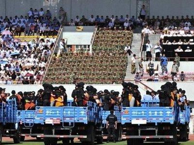 В Китае на семитысячном стадионе 55 человек осудили за терроризм
