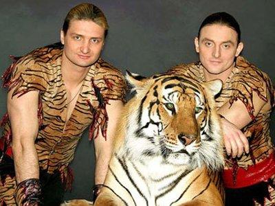 Братья Запашные и тигр