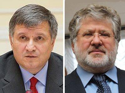 Следственный комитет собирается объявить Арсена Авакова (слева) и Игоря Коломойского в международный розыск