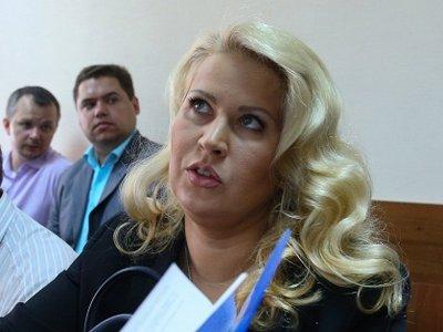 Евгения Васильева в зале Пресненского суда у судьи Татьяны Васюченко