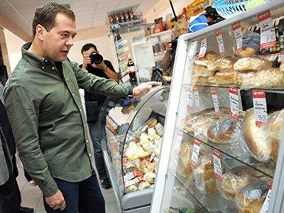 Медведев продлил срок уничтожения санкционных продуктов до 2018 года