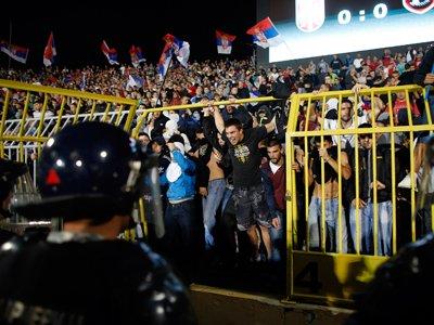 В Белграде задержан брат премьера Албании, который сорвал футбольный матч патриотичным дроном