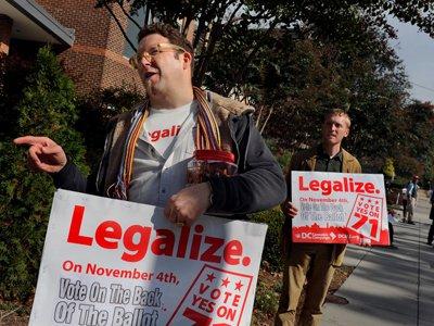 Жители округа Колумбия проголосовали за легализацию марихуаны