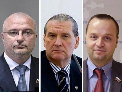 На фото Андрей Клишас, Алексей Александров, Константин Добрынин