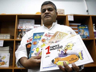 Полиция Малайзии арестовала политического художника-карикатуриста