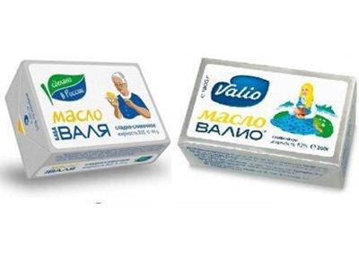 """ФАС поставила точку в споре о схожести упаковок масла """"Баба Валя"""" и финского """"Валио"""""""