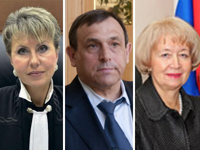 Людмила Гавердовская (слева), Александр Евстифеев и Наталья Шуршалова