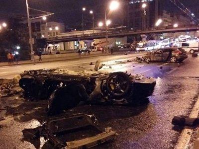 ДТП с Ferrari возле Крымского моста