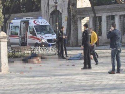 Взрыв в Стамбуле на площади Султанахмет