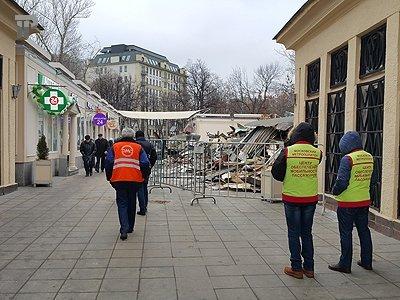 Снос торговых рядов у метро