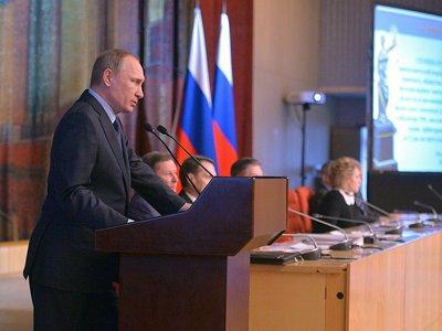 Путин: создание единой высшей инстанции объединило потенциалы СОЮ и арбитражей