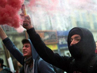 Протесты против реформы трудового законодательства в Марселе